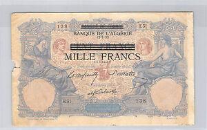 TUNISIE-1000-FRANCS-BLEU-ET-ROSE-12-7-1892-H-51-N-1257138