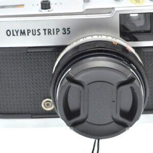 Olympus 35 ED RC EC ECR PEN D  Step Up 43.5mm to 49mm Filter Ring /& Lens Cap NEW