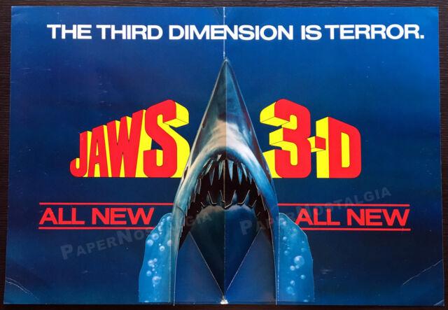 JAWS 3-D__Original 1983 Trade Pop-up 3-D film promo / advertisement__Shark Week