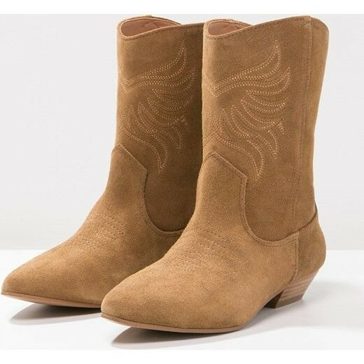 ALDO ASALIDIA EU37.5 UK4.5 WOMENS ANKLE CALF SUEDE LEATHER BROWN BOOTS