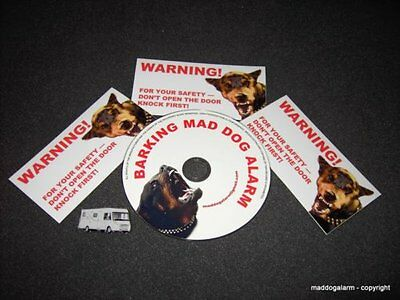 "PROTECTION CD "" BARKING MAD DOG ALARM"" WARNING CD,authentic voices, With sticker"