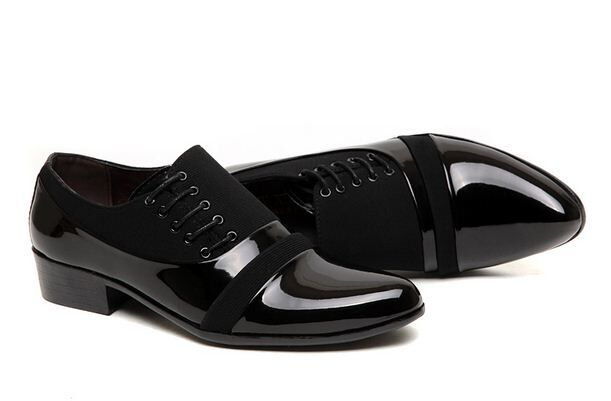Fashion Mens Dress Formal Lace up patent leather Oxfords Casual business Shoes