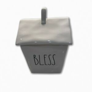 New-Rae-Dunn-Rare-HTF-BLESS-Canister-House-Shaped-Canister-Cookie-Jar-LL-Magenta