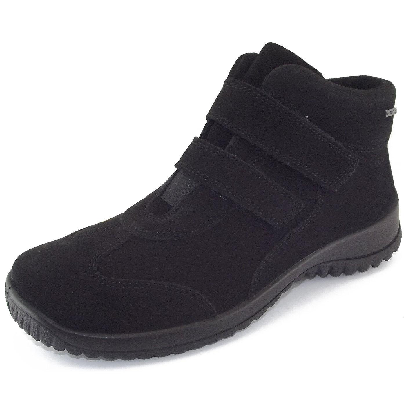 Legero Gore-Tex Softboot Klett Damen Damen Klett Sneaker-Stiefel schwarz 27912d
