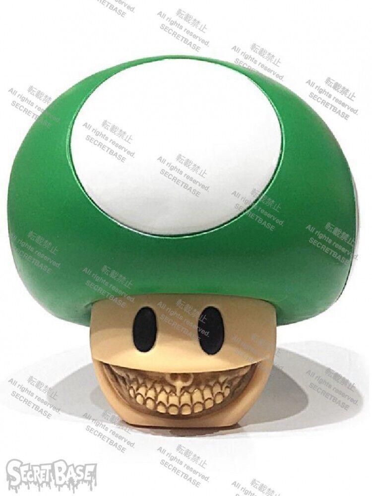 Nouvelle base secrète Champignon sourire par Ron English vert Figure du Japon