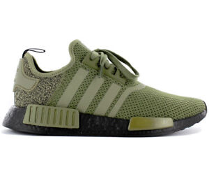 Details about Adidas Originals NMD R1 AQ1246 Olive Green Black EU Exclusive Sneakers