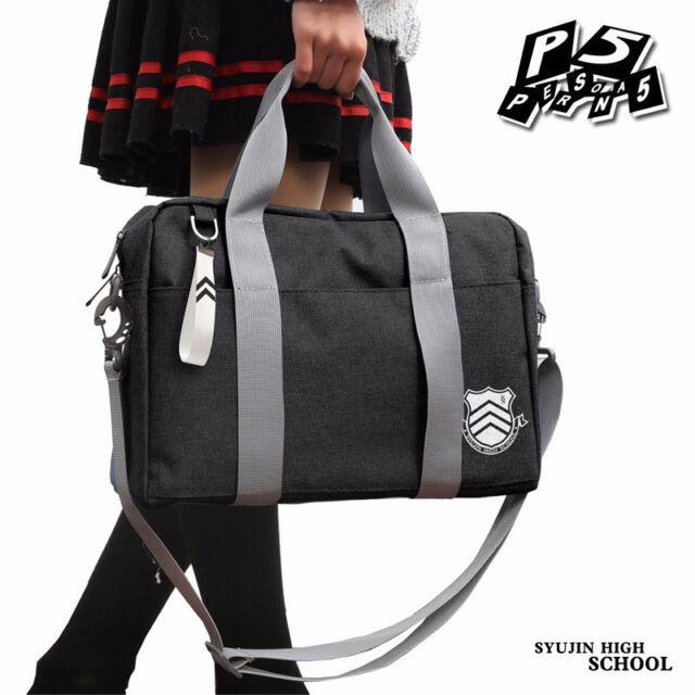 Game Persona 5 P5 Shujin Gakuen Real High School Bag Anime Uniform Shoulder  Bags