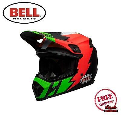 Bell Mx 9 Mips Mx Atv Motocross Offroad Helmet Strike Infrared Green Dot Ece Ebay