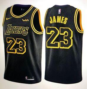 a754d73a61f Lakers  23 LeBron James Men s Stitched Black Swingman City Edition ...