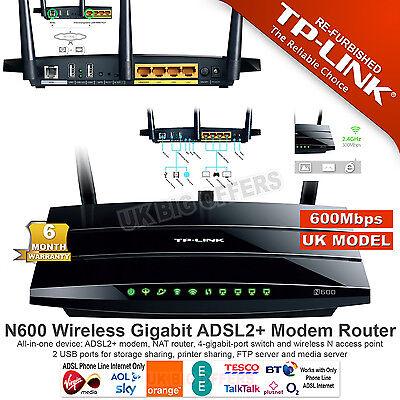 TP-Link TD-W8980 N600 Wireless Dual Band Gigabit ADSL2+ Modem Router 600Mbps