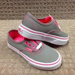 auténtico Zapatos Niño Gris Vans Escarcha rosa pop AxyYp0qdw4