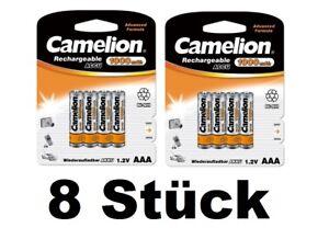 8x Camelion AAA Micro 1100 mAh Akku Aufladbar für Telefon Telekom Siemens 2x4er