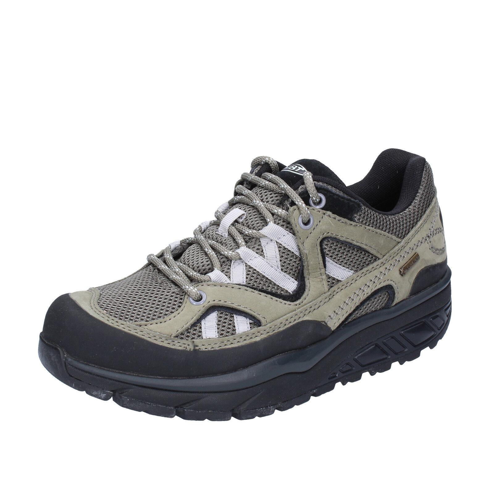 women's shoes MBT 12 / 12,5 () sneakers green gray textile nabuk BT23-43