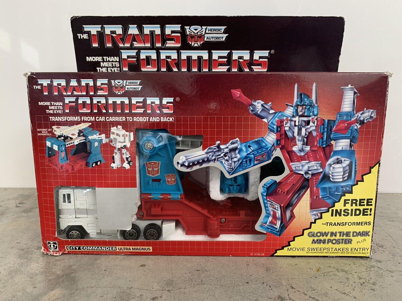 Transformers ORIGINALE G1 1985 ULTRA MAGNUS nella casella