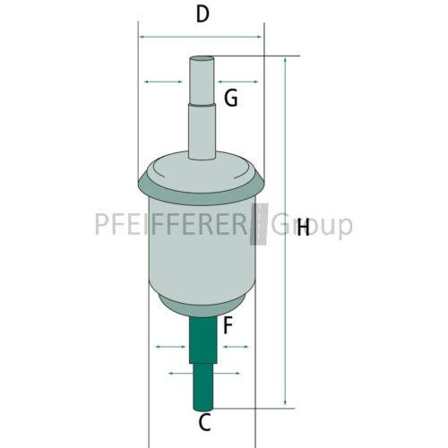 4 pas F Fleetguard-nº ff5705 Hombre Filtro de combustible wk31