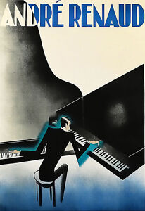 Art Ad Deco Andre Renaud Piano Poster Print - <span itemprop=availableAtOrFrom>Lytham St. Annes, United Kingdom</span> - Buyers may return their poster if not fully satisfied within 14 working days after the day that they receive the item.. Most purchases from business sellers are protected by the  - Lytham St. Annes, United Kingdom