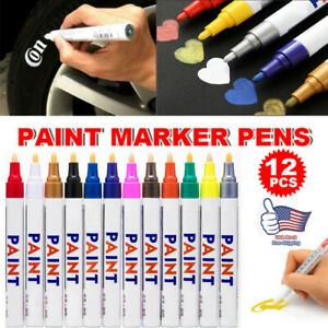 12-Colors-Paint-Marker-Pens-Waterproof-Permanent-Mark-Car-Tire-Tyre-Tread-Rubber