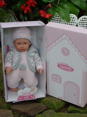 Fashion Doll Llorens 30004 Nora Winter 12 Baby Girl Crying Pink