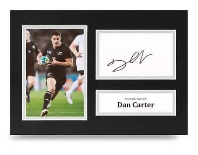 Dan Carter Signed Mini Rugby Ball Autograph New Zealand Union All Blacks COA