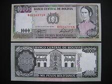 BOLIVIA  1000 Pesos Bolivianos 1982  (P167a)  UNC