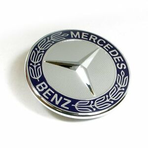 Mercedes benz hood flat badge emblem bonnet genuine for Mercedes benz bonnet badge