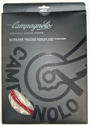 NEW 2018 CAMPAGNOLO ErgoPower ULTRA Shift Cable /& Casings Set Fits 9 11 RED 10