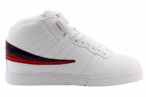 NEW 2016 BOY/'S GIRL/'S FILA VULC 13 WHITE CLASSIC HIGH TOP ANKLE STRAP SNEAKERS