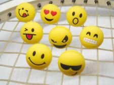 10pcs various expressions ball tennis racquet shock absorber viberation dampener