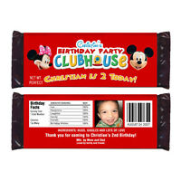 12 Mickey And Minnie Mouse Birthday Party Personalized Candy Wrappers