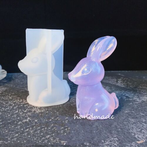 DIY Silicone Resin bunny Mold Jewelry Pendant Making Tool Mold Craft Handmade