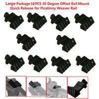 10 Pcs Offset 45 Degree Rail Mount Quick Release For Weaver Picatinny Rail