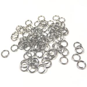 Métal Argenté 200 Anneaux de jonction 6mm Simples Fabrication de bijoux