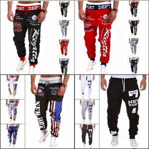 Men-039-s-Trousers-Sweatpants-Harem-Pants-Slacks-Casual-Jogger-Dance-Baggy-Sportwear