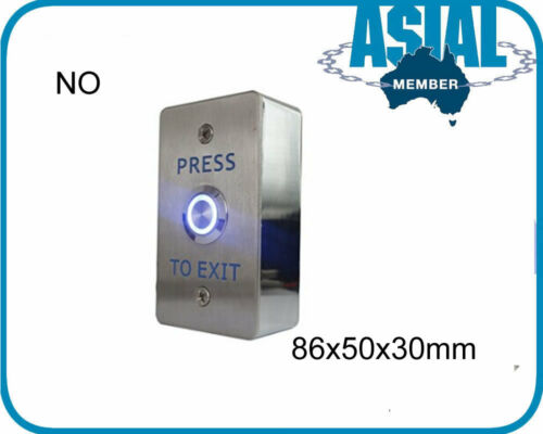 Door Release Button Exit Push key Switch N//O or N//O N//C Optional Steel//Plastic