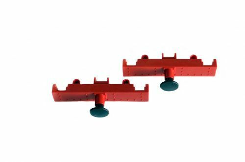 Piko 2 Mittel-Pufferbohlen rot für PIKO Lok BR80