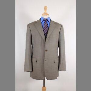 Brooks-Brothers-42L-Brown-Solid-Wool-2B-Sport-Coat-Blazer-Suit-Jacket-90-F