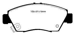 DP4891R Almohadillas de Freno Delanteras Yellowstuff EBC Ajuste Honda