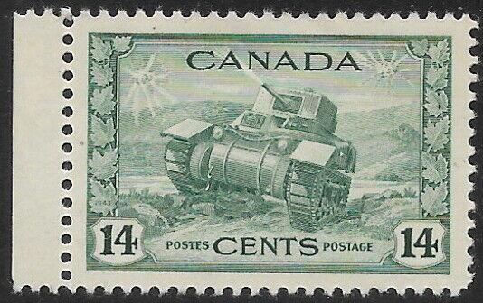 Canada, MH, #259, 14c Ram Tank, Issued 1943, CV = $7.00