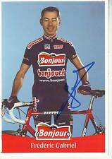 CYCLISME carte cycliste FREDERIC GABRIEL équipe BONJOUR.fr 2001 signée