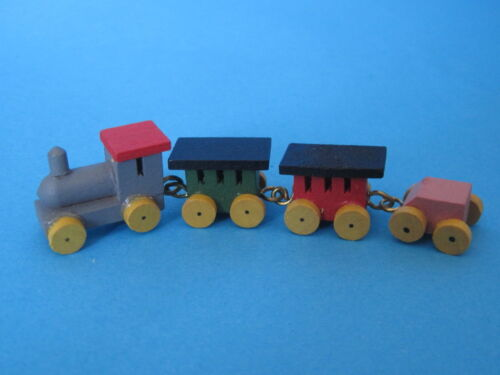 Eisenbahn mit Lok und Waggon für die Puppenhaus Dekoration Miniaturen 1:12