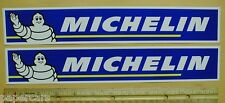 """PAIR  12""""  Michelin Tires NASCAR Hot Rod Drag Racing contingency decal sticker"""