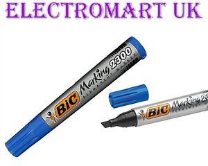 Chisel Tip 2300 Bic Permanent Black Marker Pen