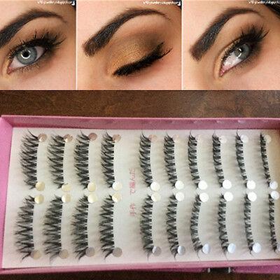 10Pairs Seamless Cross Criss False Eyelash Handmade Volume Long Fake Eye Lashes