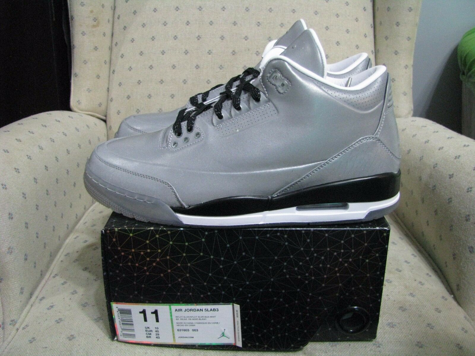 cheaper faf2f 10039 ... cheapest nike air jordan retro 3 5lab3 reflective plata gris cemento 11  rojo true azul sz