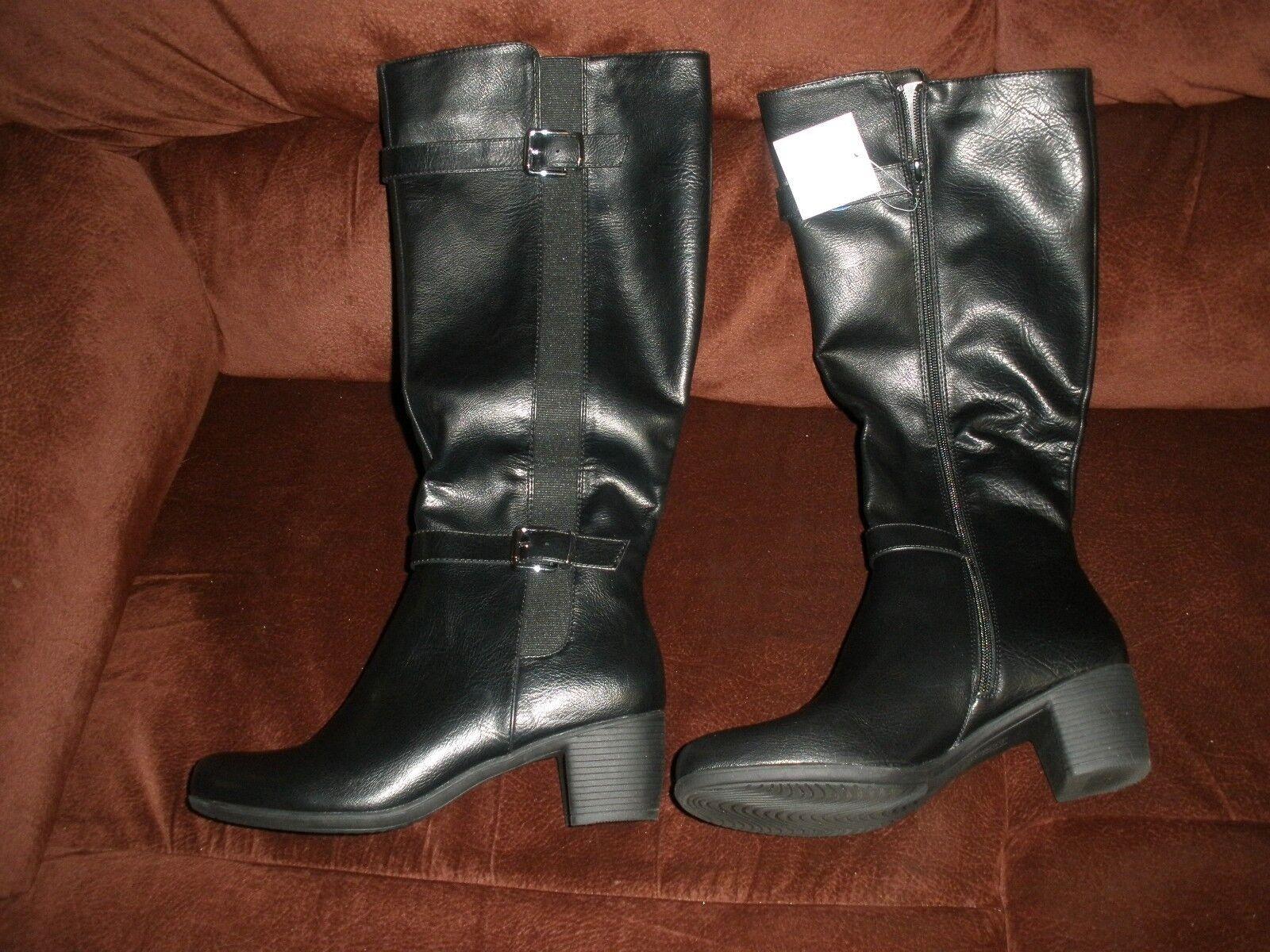 NEU CROFT & BARROW SIZE 10 WOMEN'S BOOTS BLACK CBBEV 89.99 WITH BOX