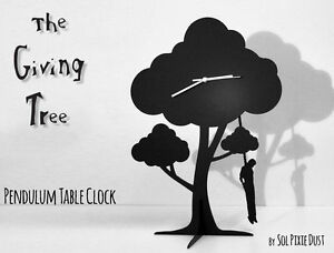 Image Is Loading The Giving Tree Hanging Man Silhouette Pendulum Table