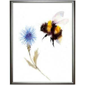 BEE-AND-CORNFLOWER-ORIGINAL-WATERCOLOUR-PAINTING-BY-DIANE-ANTONE-SHIP-WORLDWIDE