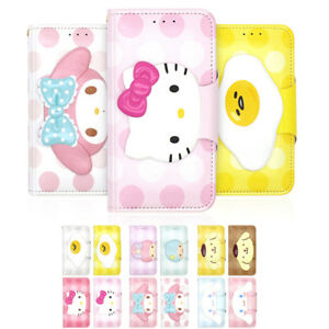 Hello-Kitty-Character-Face-Button-Leather-Diary-Case-For-Apple-iPhone-5-5S-SE