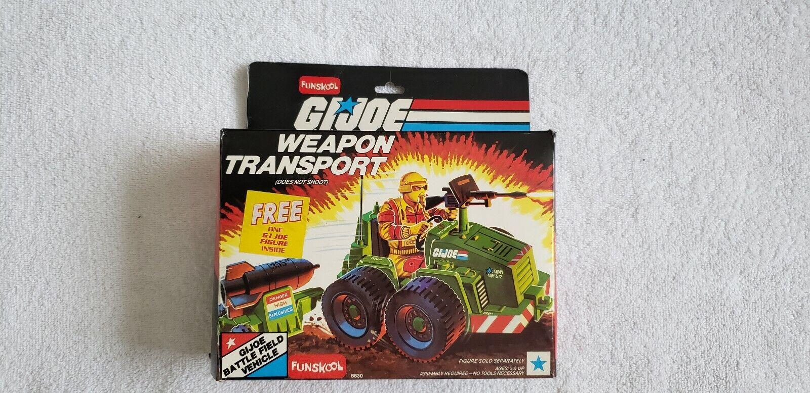 GI Joe Vehicle Weapons Transport Tractor 1985 Original Part