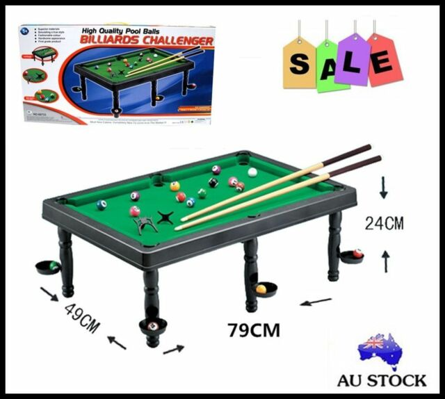 NEW PORTABLE SPORT KID ADULT BILLIARD POOL CUE BALL SNOOKER TABLE TOY GAME SET